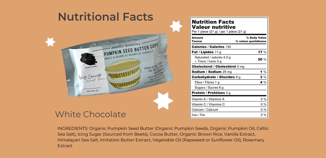 vegan white Chocolate Pumpkin Seed Butter Cups