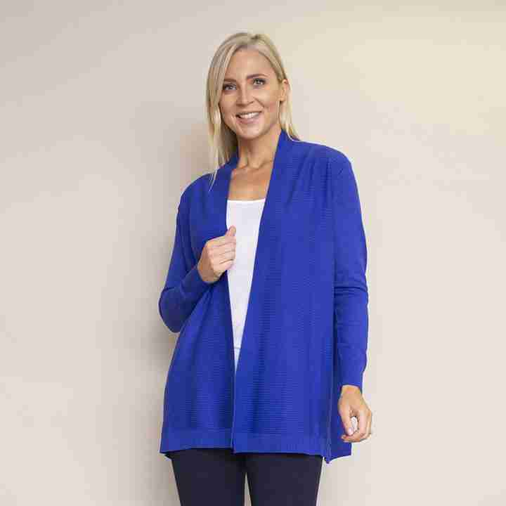 Roll Collar Cardi(Electric Blue)