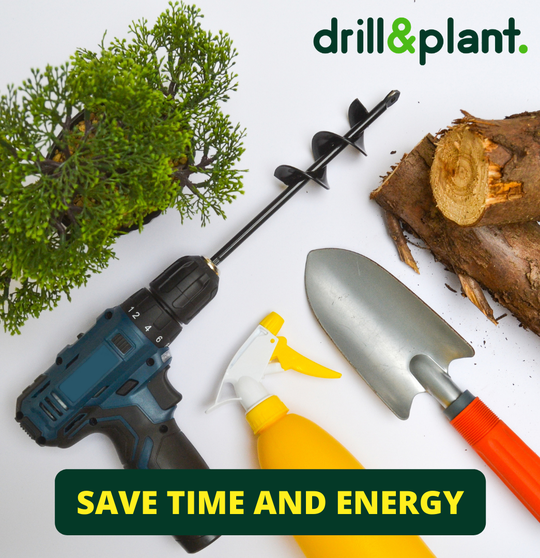 The drill&plant mini will save you time and energy