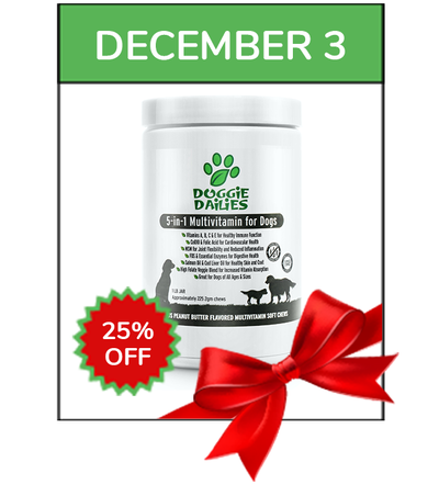 December 3rd Only. 25% Off 5-in-1 Multivitamin Chews + Free Shipping.