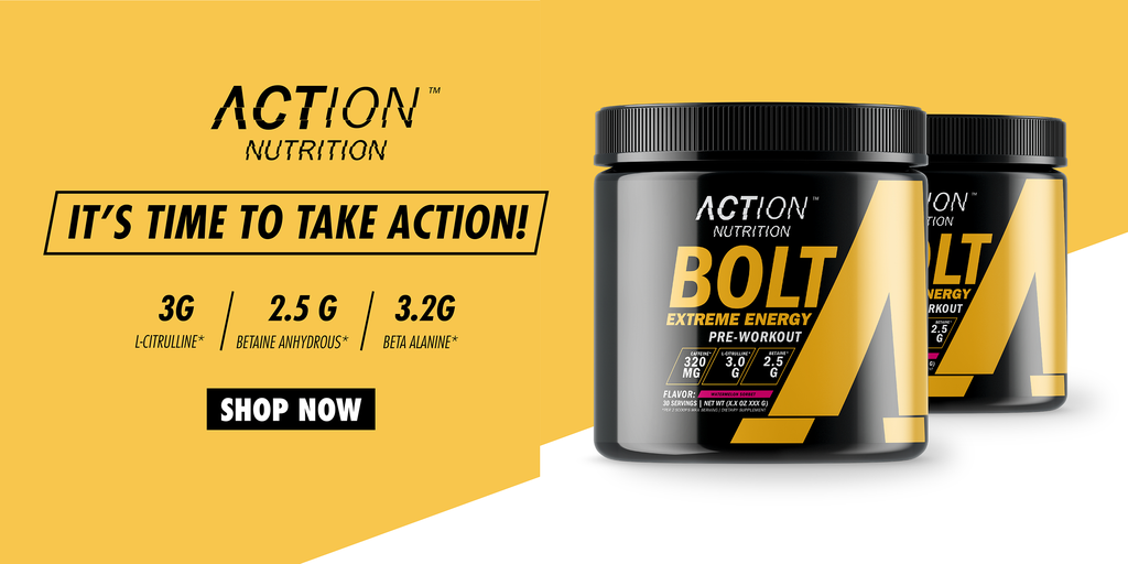 BOLT Extreme Energy Pre Workout Powder Drink Mix by Action Nutrition