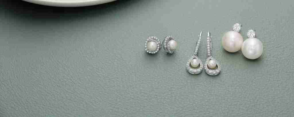Three sets of bridal pearl earrings from Gordon's Jewelers