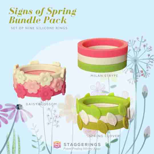 Signs of Spring bundle pack silicone rings