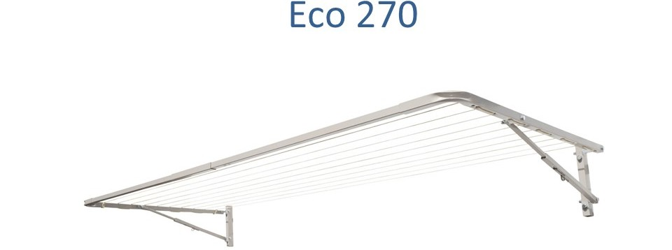eco 270 2.7m wide clothesline