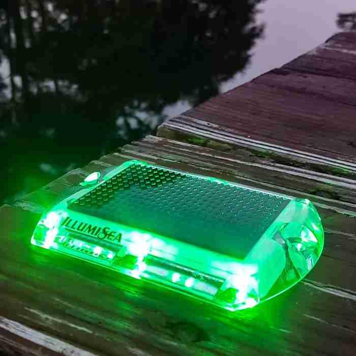 green led solar dock waterproof lights