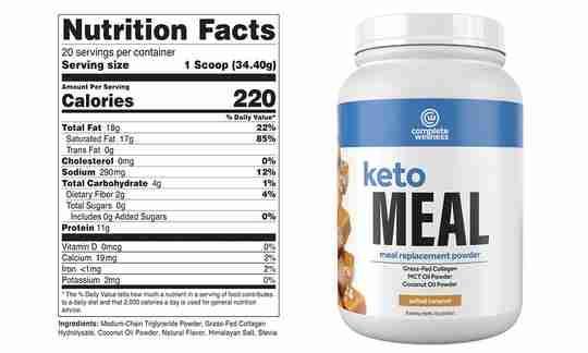 Complete Wellness Keto Meal