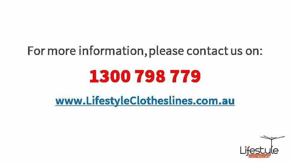 300cm clothesline contact information