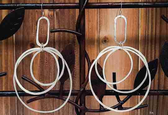 Argentium Hoop Earrings from Junebug Jewelry Designs