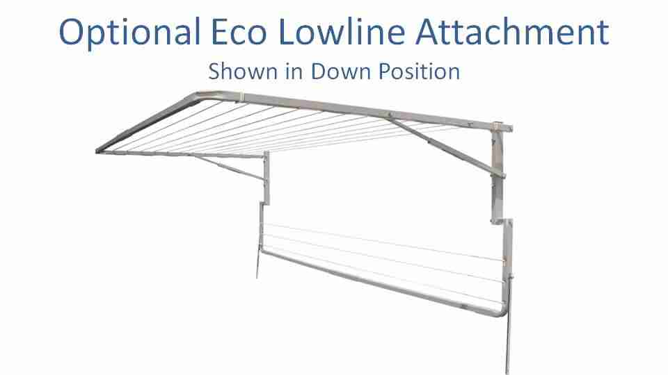 eco 2400mm wide lowline attachment show in down position