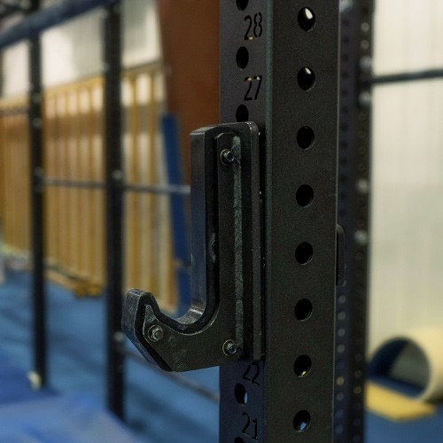 Ninja Rig comes with J-cups to allow for weight training in addition to all ninja training. Additionally the uprights feature laser-cut numbers to allow for easy j-cup placement