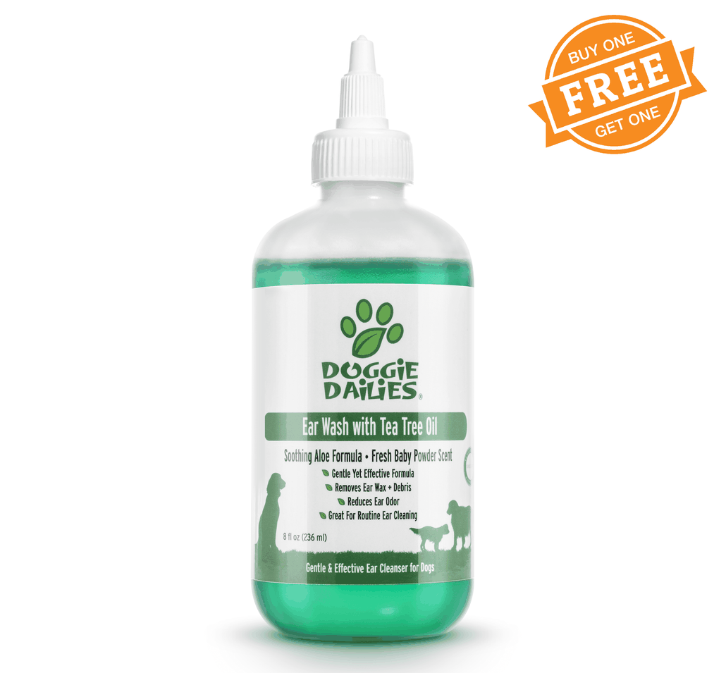Cleansing Ear Wash for Dogs With Tea Tree Oil & Soothing Aloe Vera