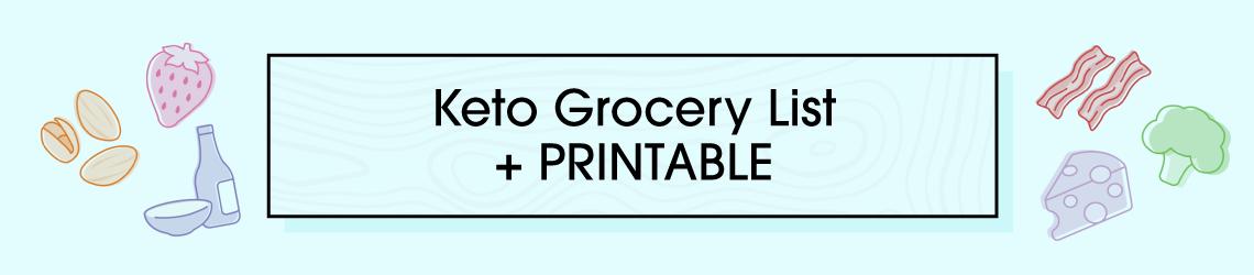 Keto Grocery List + Printable