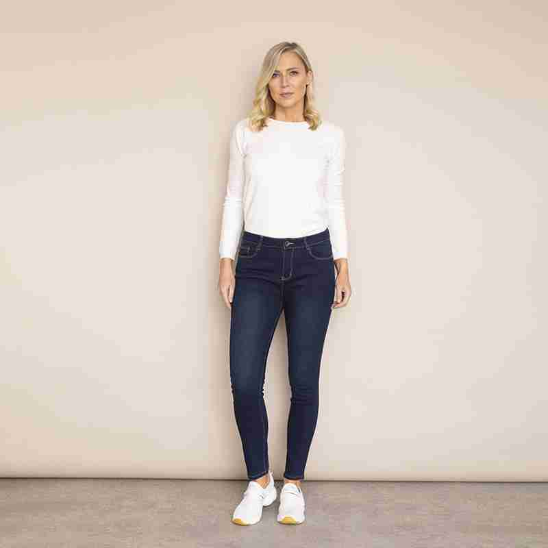 Angela Denim Trouser(Grey)