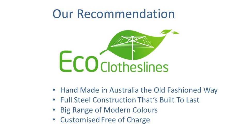 eco clotheslines are the recommended clothesline for 120cm wall size