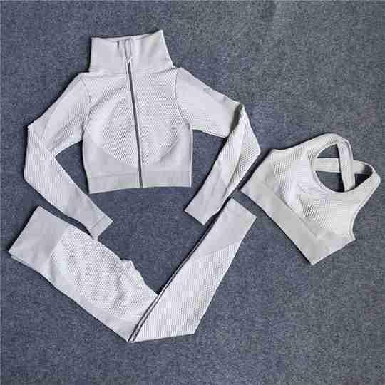 3 Piece Active Wear White