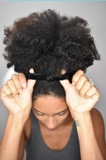 Snap Two or More Afro Puff Scrunchies Together to Fit Even The Biggest, Thickest Hair