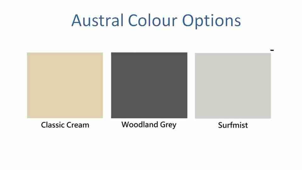 3300mm wide folding clothesline colour options