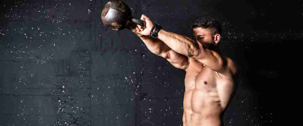 A man exercising to naturally boost testosterone levels.