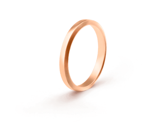 Van Cleef and Arpels rose gold wedding band