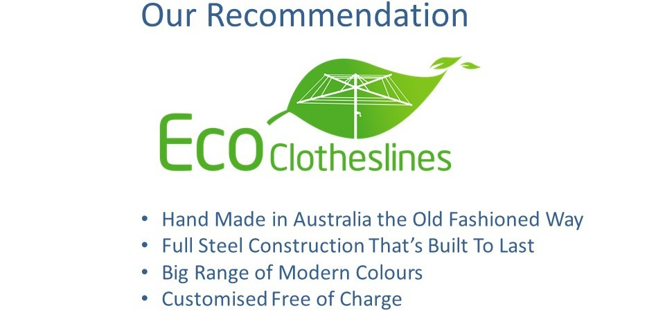eco clotheslines are the recommended clothesline for 2.5m wall size