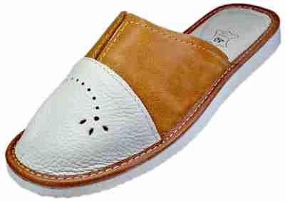 Clio - Women bedroom slippers - Reindeer Leather