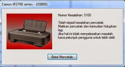 error 5100 Canon IP2770, Cara mengatasi error 5100 canon ip2770