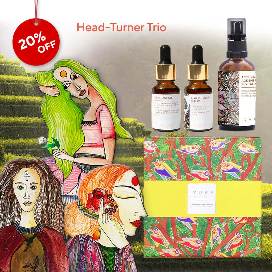 iYURA Head-Turner Trio for Lustrous Skin and Luscious Hair