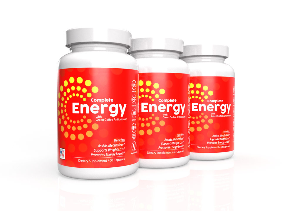 3-Pack - Complete Energy Formula with Green Coffee Antioxidant
