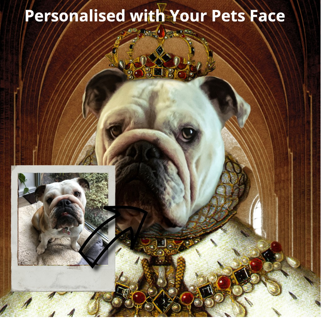 SquishyFacedCrew™ 'The Queen' Custom Pet Canvas