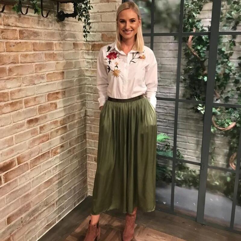 Faye Floral Shirt White