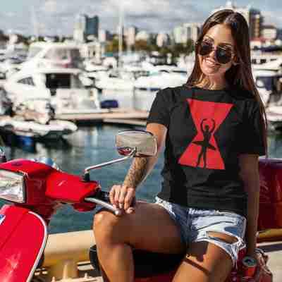 Black Widow Swan Unisex T-Shirt - Adult