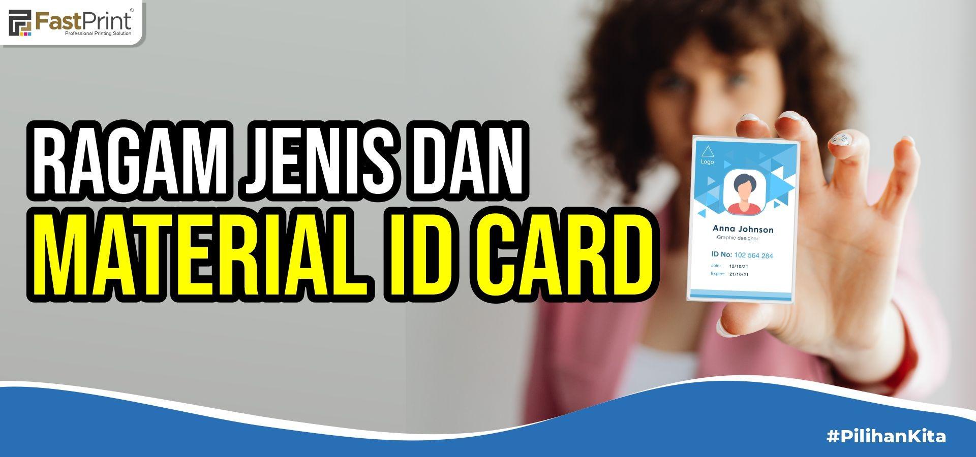 jenis kertas cetak id card, bahan id card