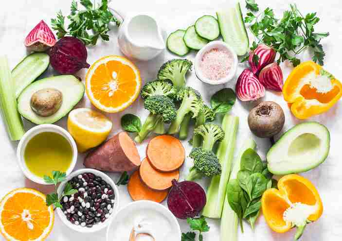 Vegetable and fruit platter