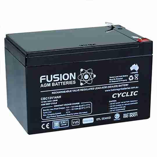 Fusion 12V 14Ah Deep Cycle AGM Battery