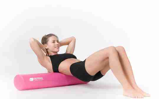 SENTEQ Leather Foam Roller therapeutic exercises water resistant PVC leather material Stretchpole Straightening workout