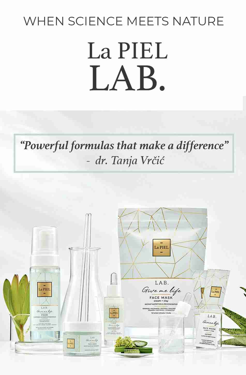 La PIEL Lab natural Skincare Face Collection Lana Jurcevic
