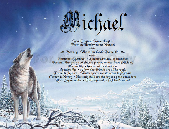 Personalized Wolf Gift