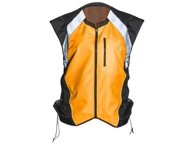Badass Moto Motorcycle Hi-Viz Vest Orange