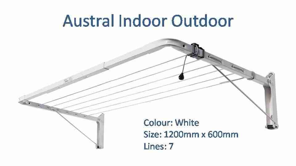 austral indoor outdoor 1300mm by 600mm clothesline