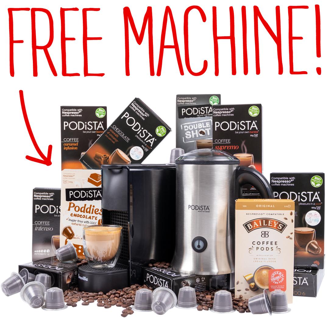 Free Nespresso Machine Bundle