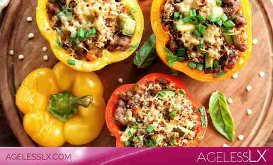 Sausage and Sweet Potato Stuffed Peppers