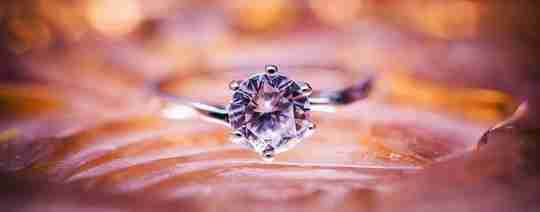 A diamond surrounded by water