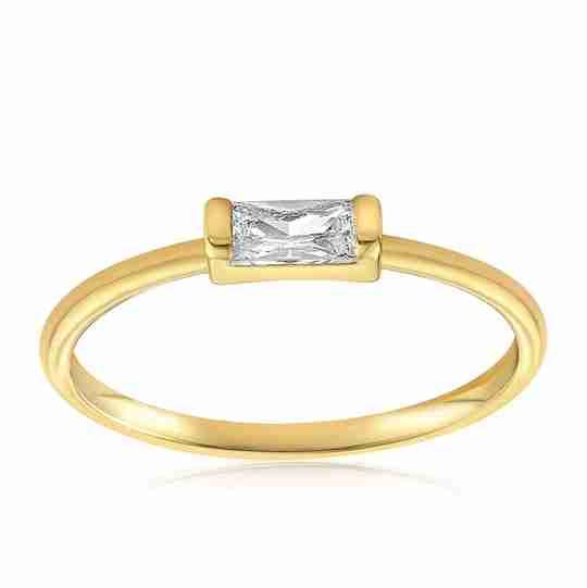 The Blush and Bar Moonie Glass Geometric Ring