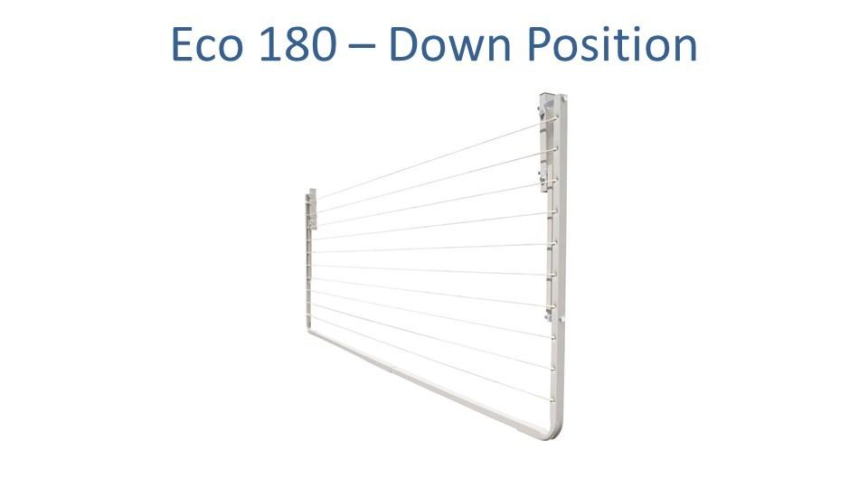 eco 180 180cm wide clothesline folded down