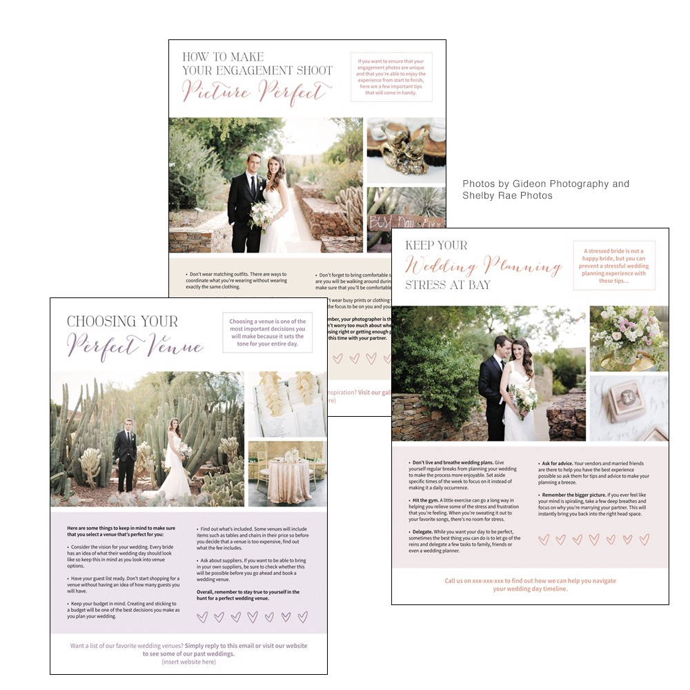 Newsletters for Wedding Photographers