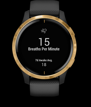 RESPIRATION TRACKING See how you're breathing throughout the day, during sleep and during breathwork and yoga activities.