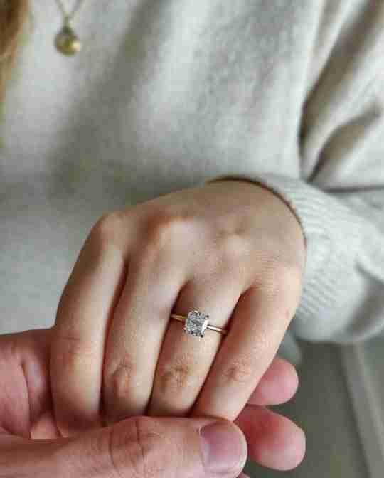 A couple with a bespoke Taylor & Hart ring