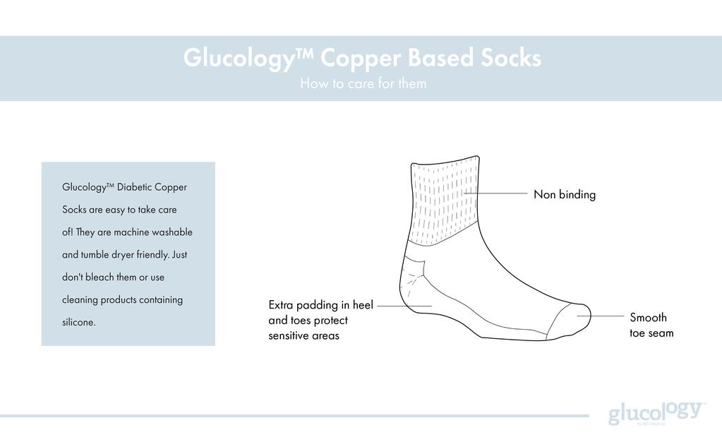 Copper Based Socks Care Instructions