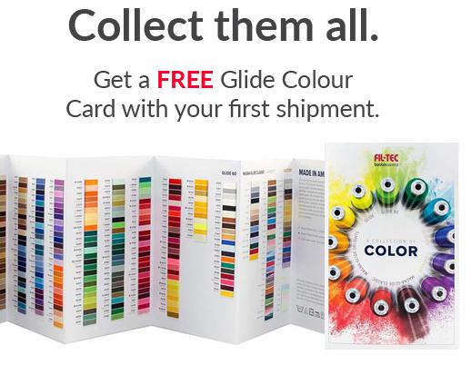 free glide thread colour card