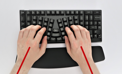 Proper wrist angle for typing